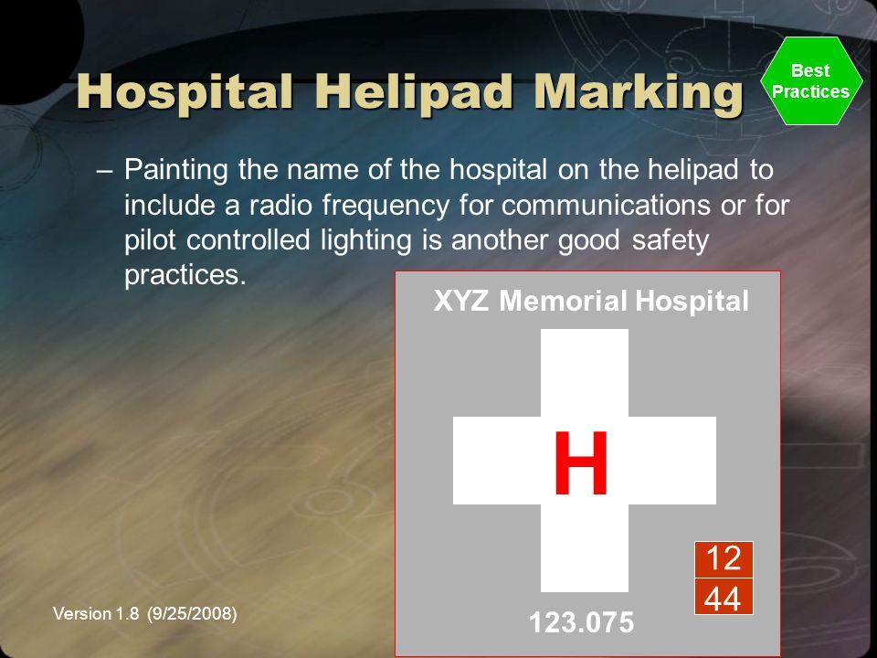 Hospital Helipad Marking