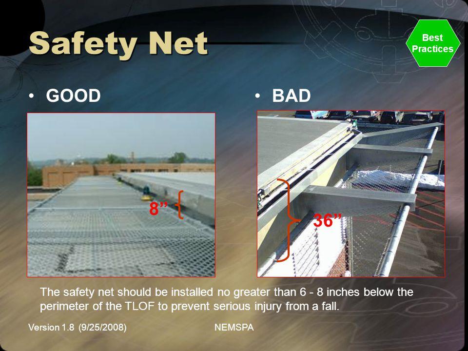 Safety Net Best. Practices. GOOD. BAD. 8 36
