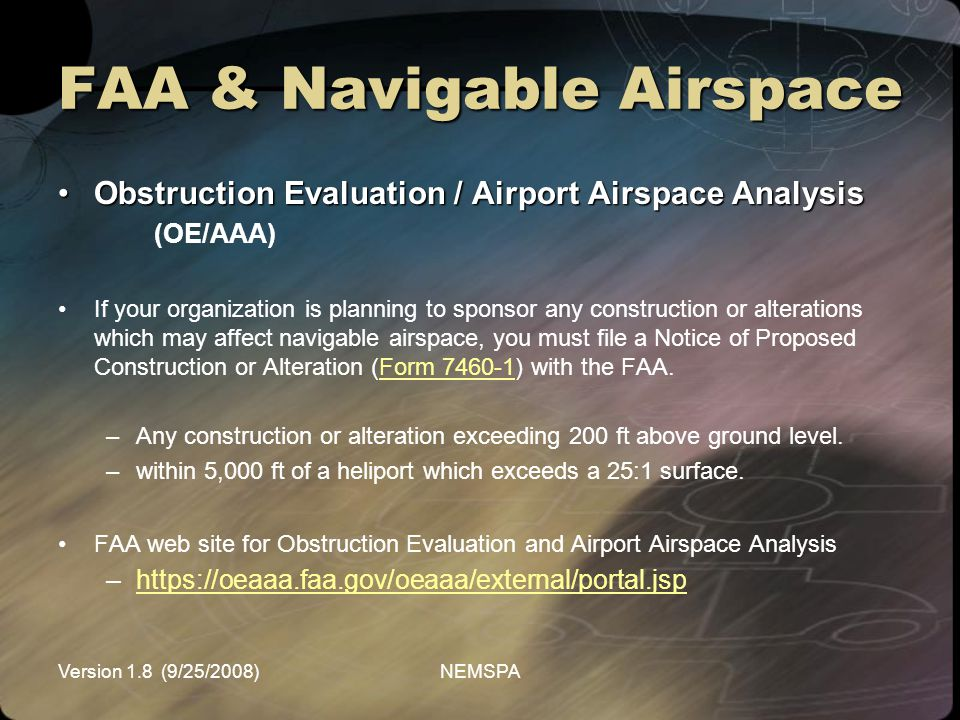 FAA & Navigable Airspace