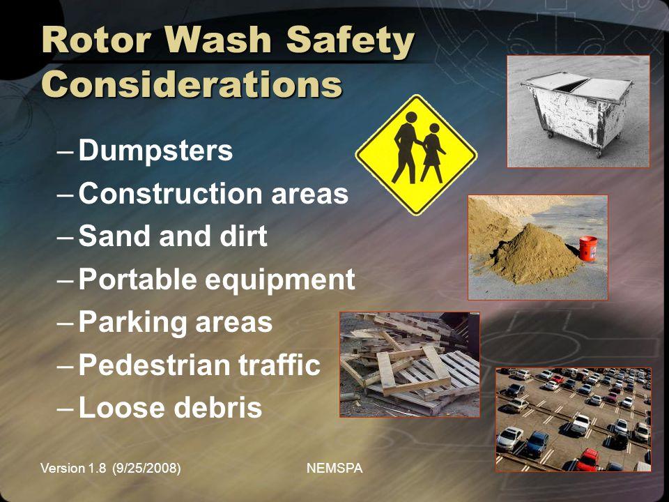 Rotor Wash Safety Considerations