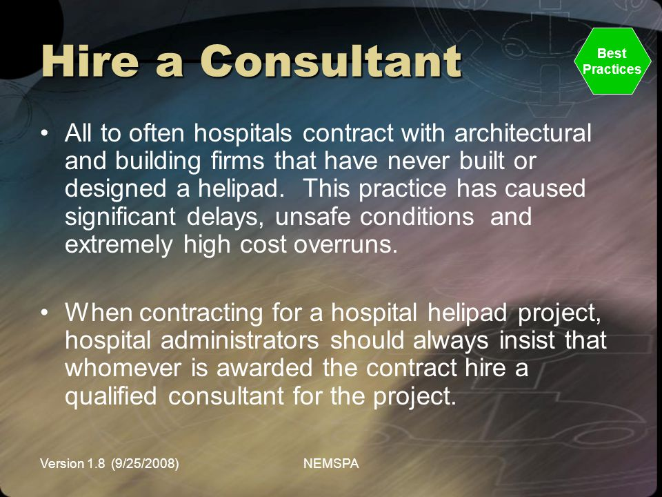 Hire a Consultant Best. Practices.