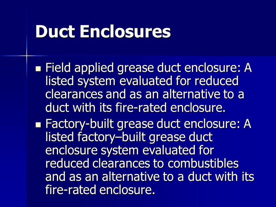 Duct Enclosures