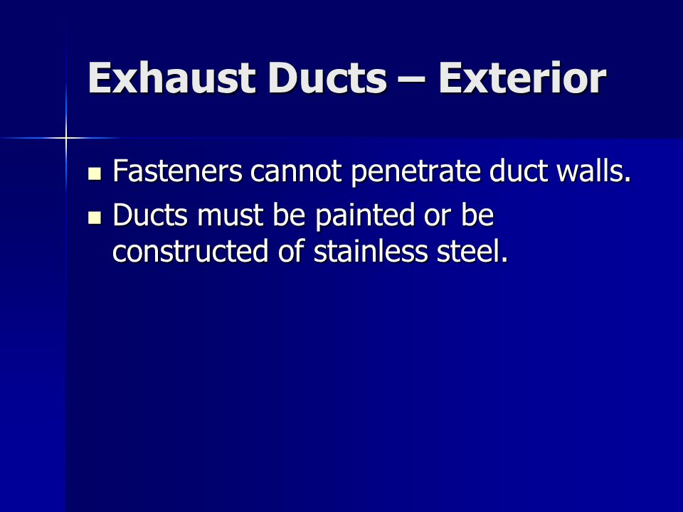 Exhaust Ducts – Exterior