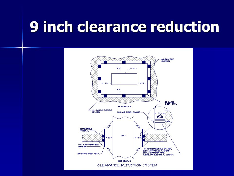 9 inch clearance reduction