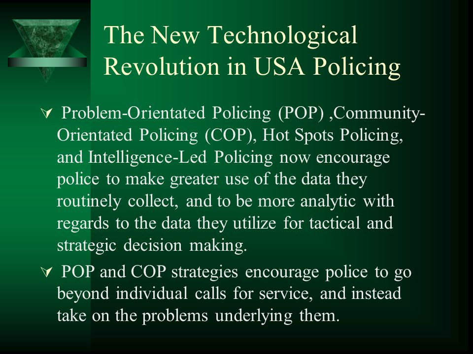 The New Technological Revolution in USA Policing