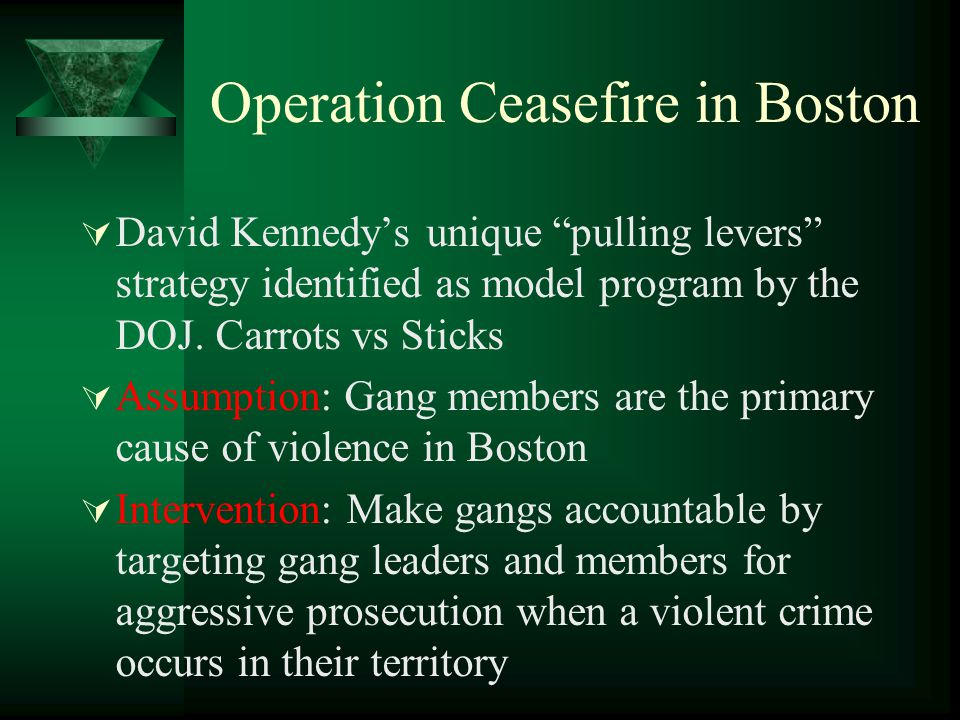 Operation Ceasefire in Boston