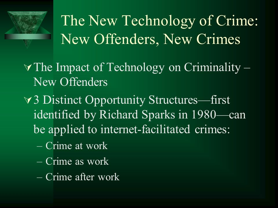 The New Technology of Crime: New Offenders, New Crimes