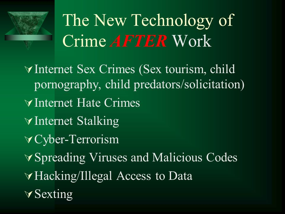 The New Technology of Crime AFTER Work