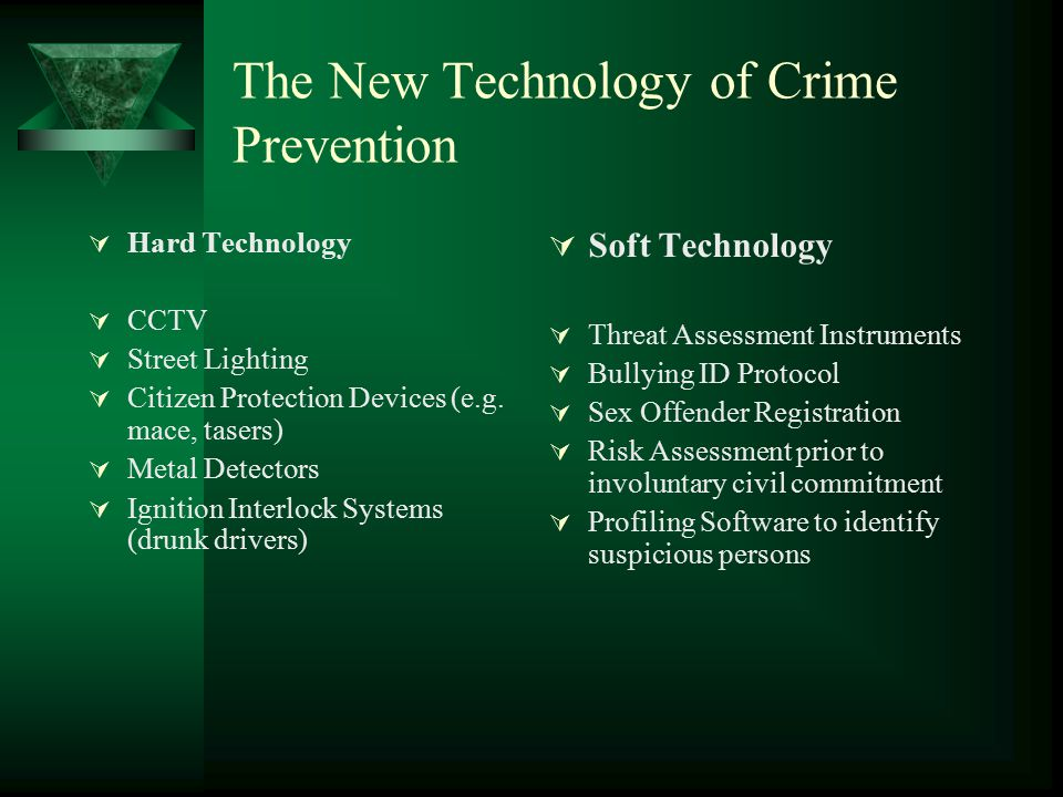 The New Technology of Crime Prevention