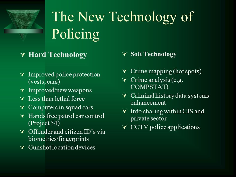 The New Technology of Policing