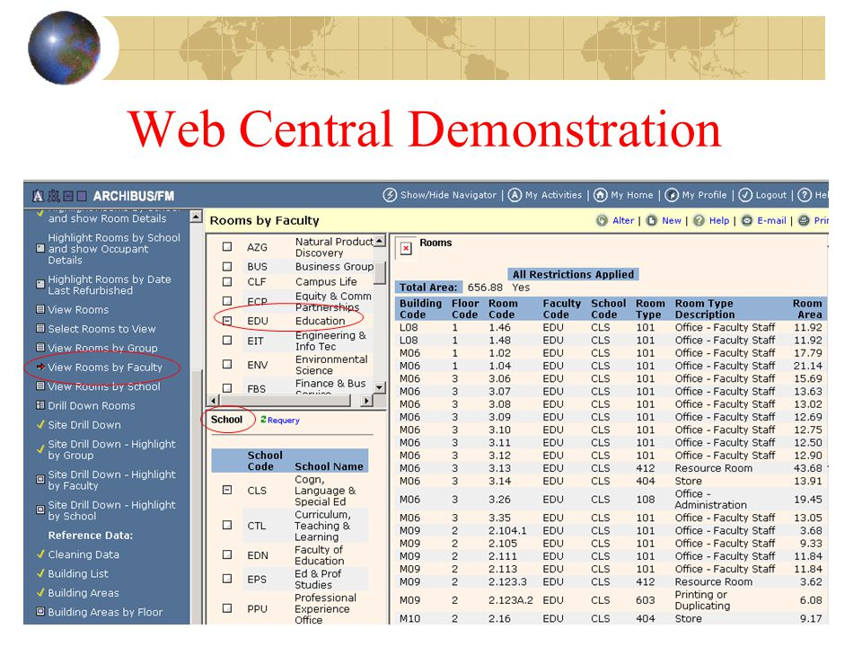 Web Central Demonstration