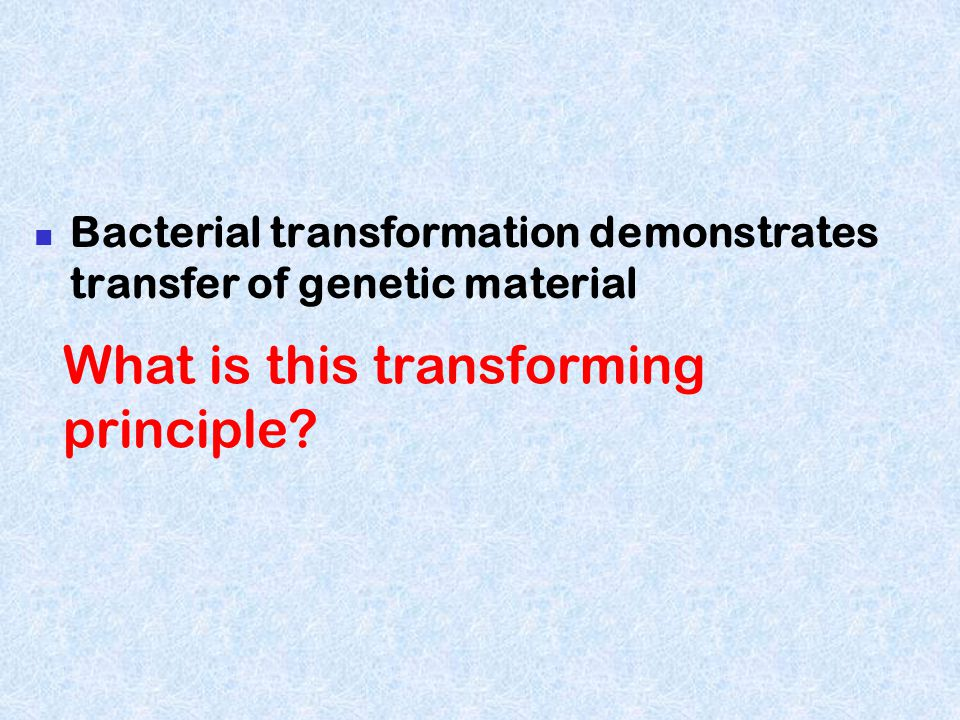 What is this transforming principle