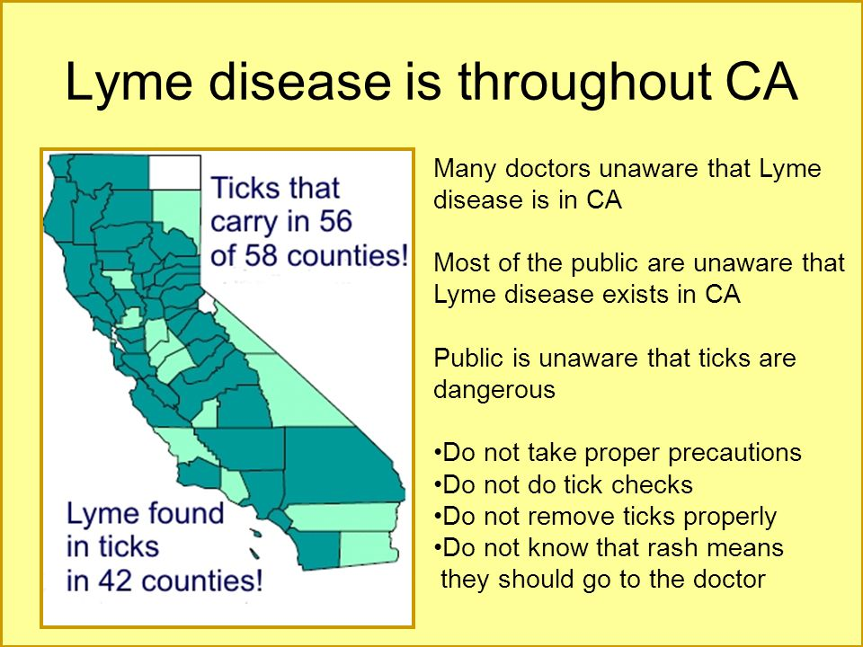 Lyme disease is throughout CA