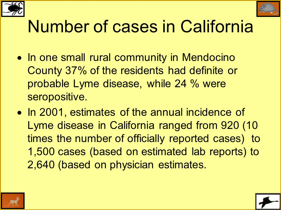Number of cases in California
