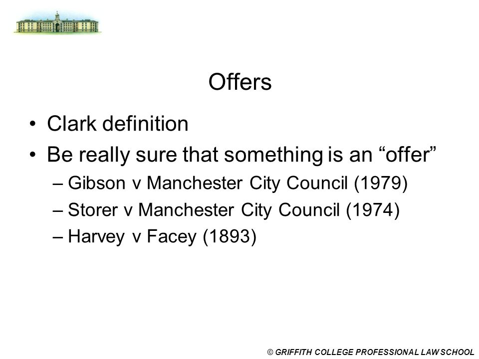 Offers Clark definition Be really sure that something is an offer
