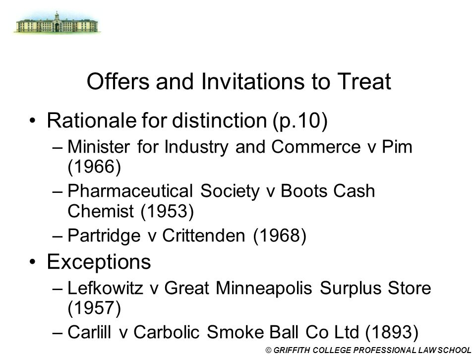 Offers and Invitations to Treat