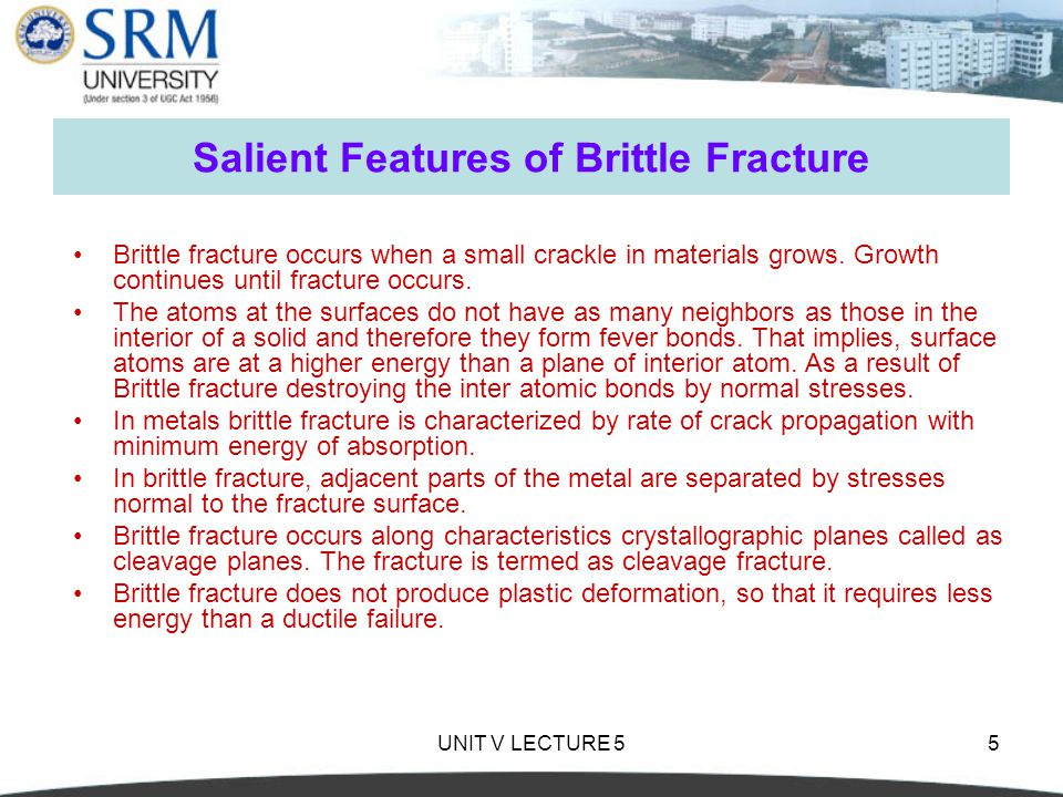 Salient Features of Brittle Fracture