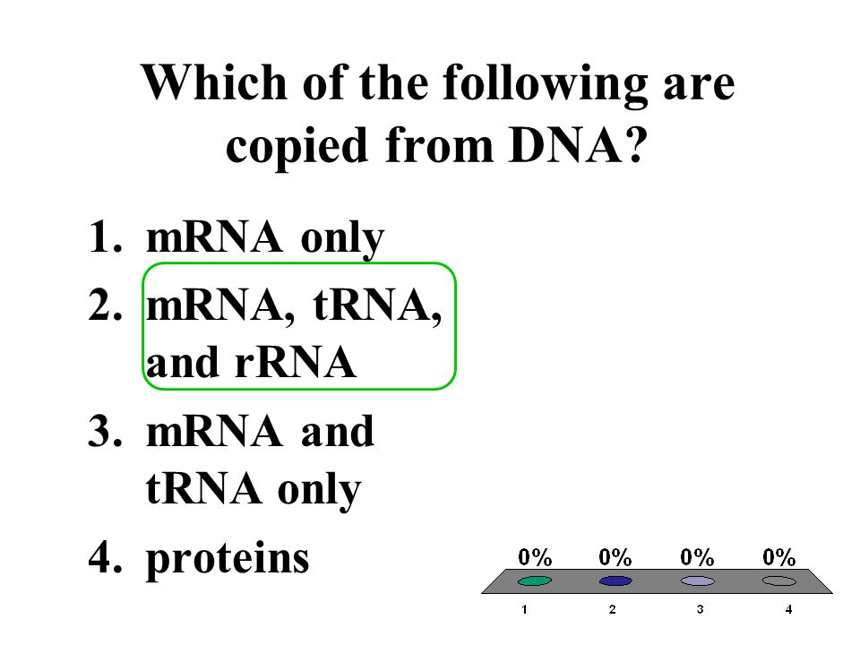 Which of the following are copied from DNA