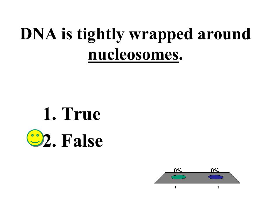 DNA is tightly wrapped around nucleosomes.
