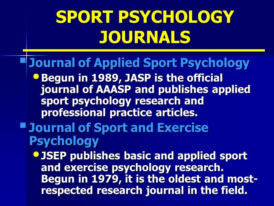 SPORT PSYCHOLOGY JOURNALS