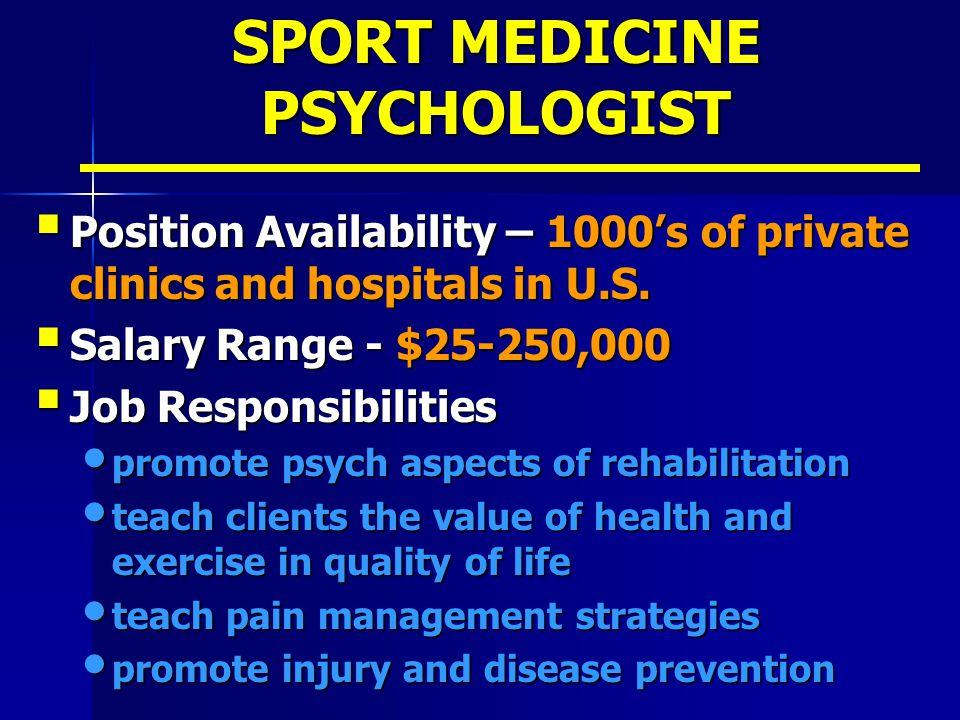 SPORT MEDICINE PSYCHOLOGIST