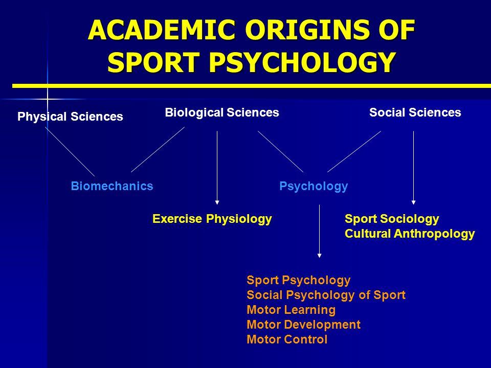 ACADEMIC ORIGINS OF SPORT PSYCHOLOGY