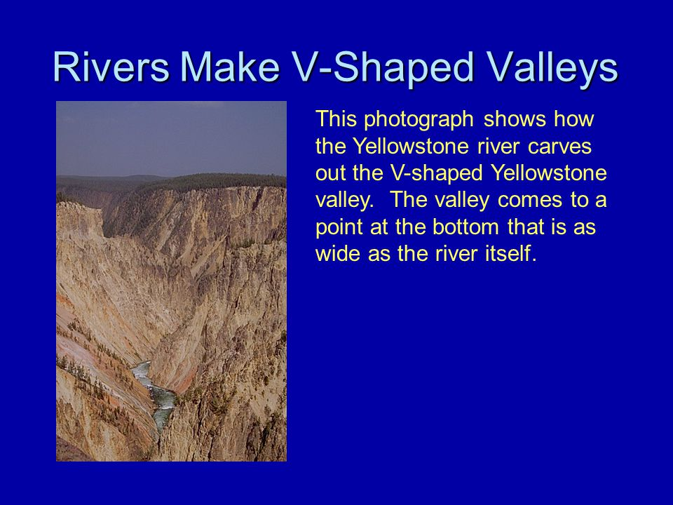 Rivers Make V-Shaped Valleys