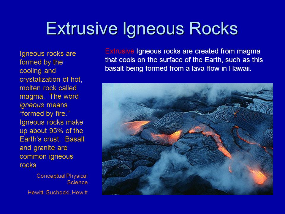 Extrusive Igneous Rocks