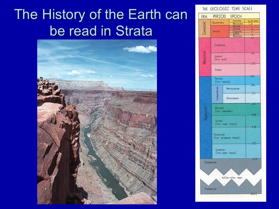 The History of the Earth can be read in Strata