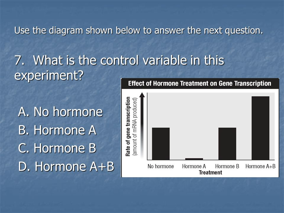 7. What is the control variable in this experiment