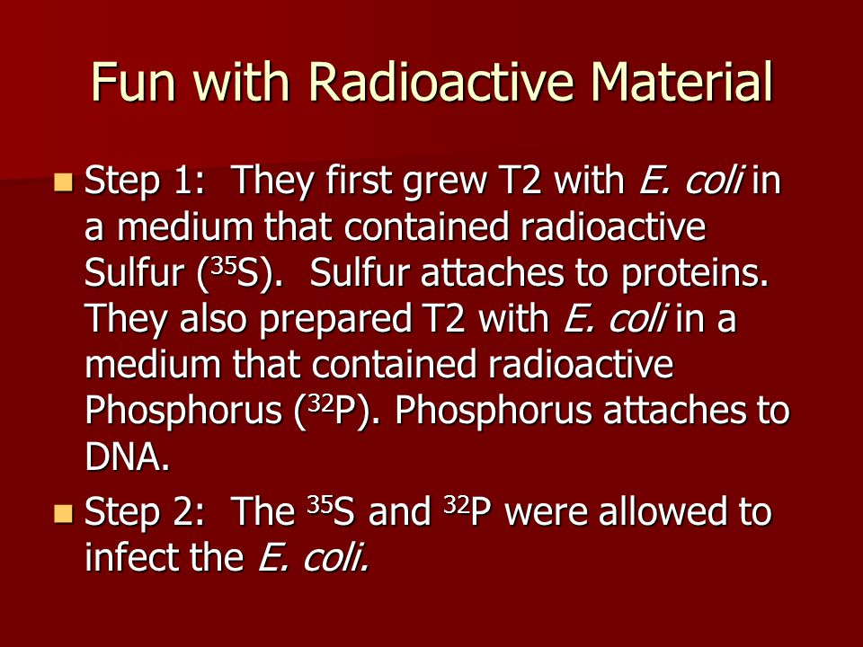Fun with Radioactive Material