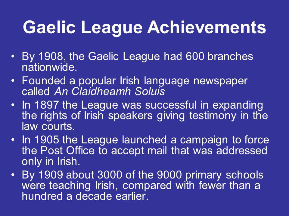 Gaelic League Achievements
