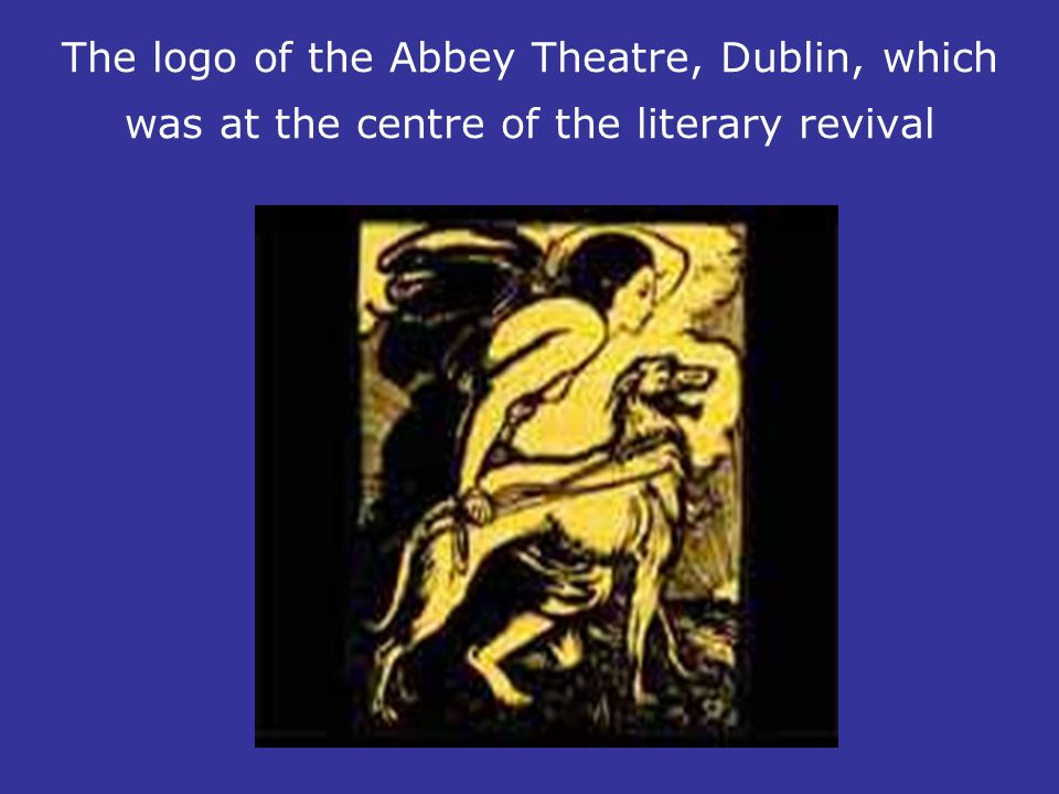 The logo of the Abbey Theatre, Dublin, which was at the centre of the literary revival