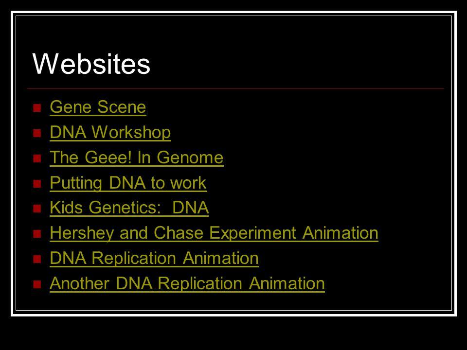 Websites Gene Scene DNA Workshop The Geee! In Genome