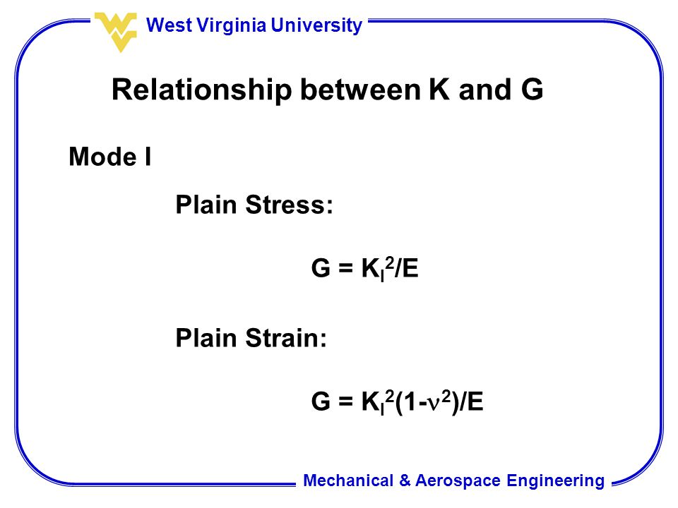 Relationship between K and G