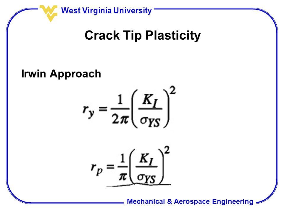 Crack Tip Plasticity Irwin Approach