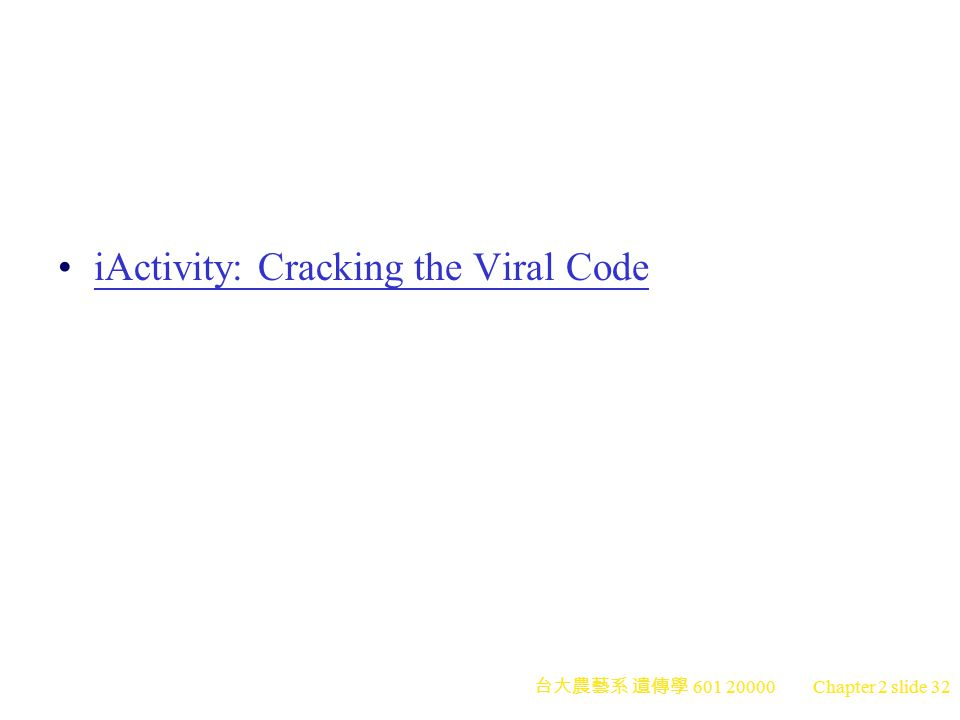 iActivity: Cracking the Viral Code