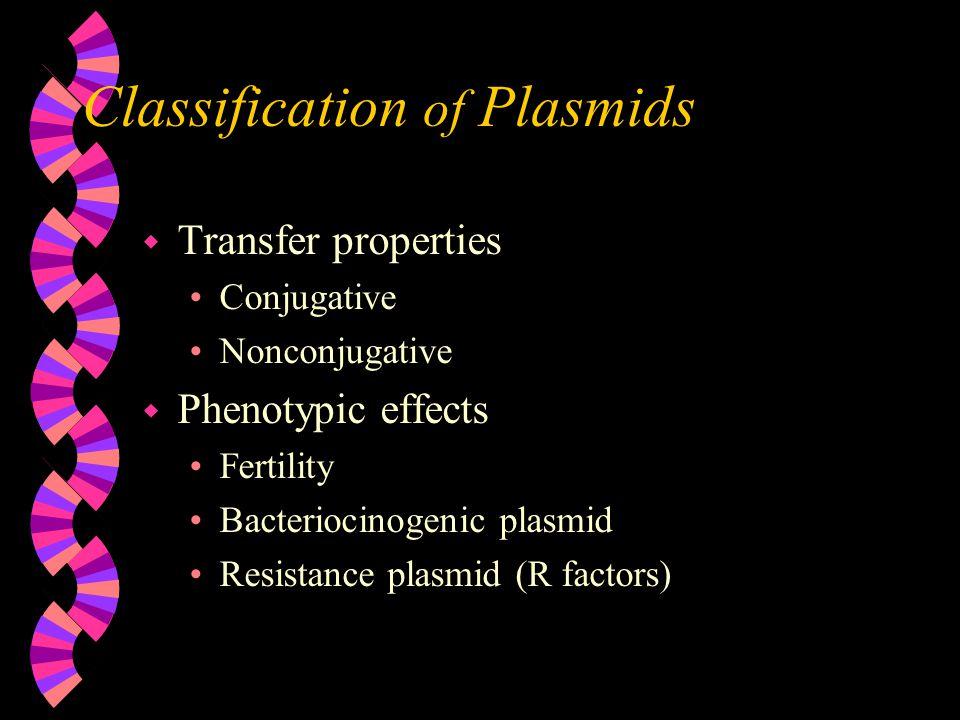 Classification of Plasmids