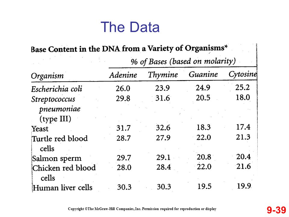 The Data 9-39. Copyright ©The McGraw-Hill Companies, Inc.