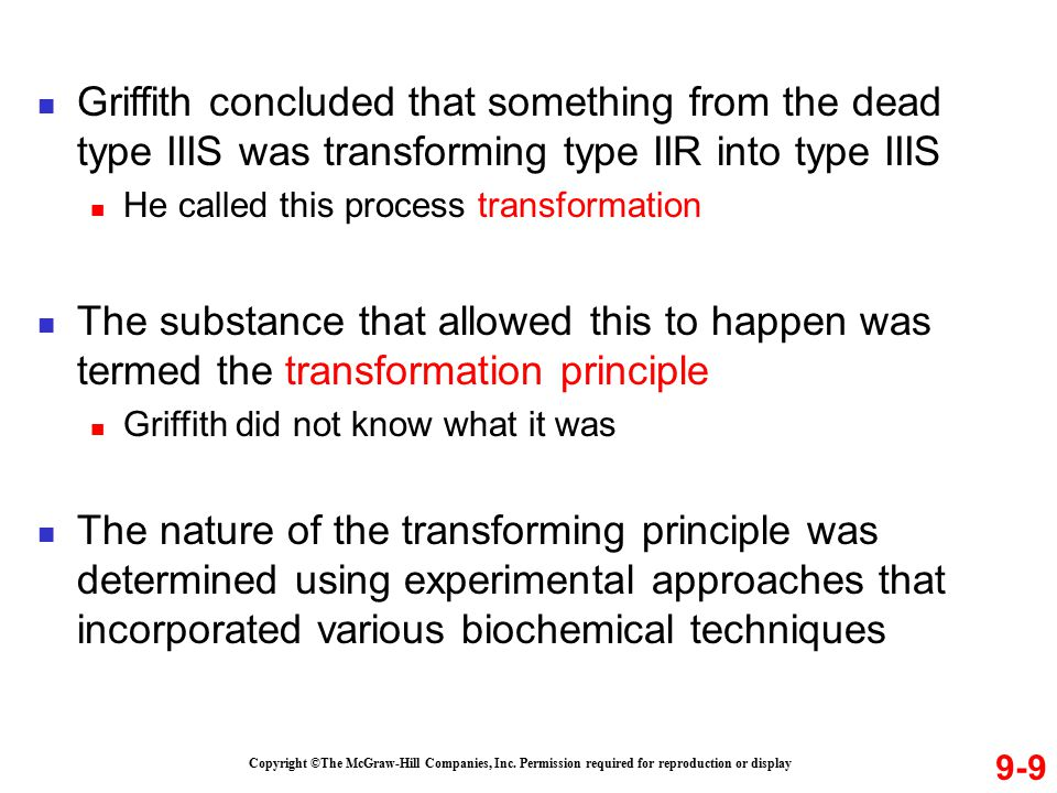 Griffith concluded that something from the dead type IIIS was transforming type IIR into type IIIS