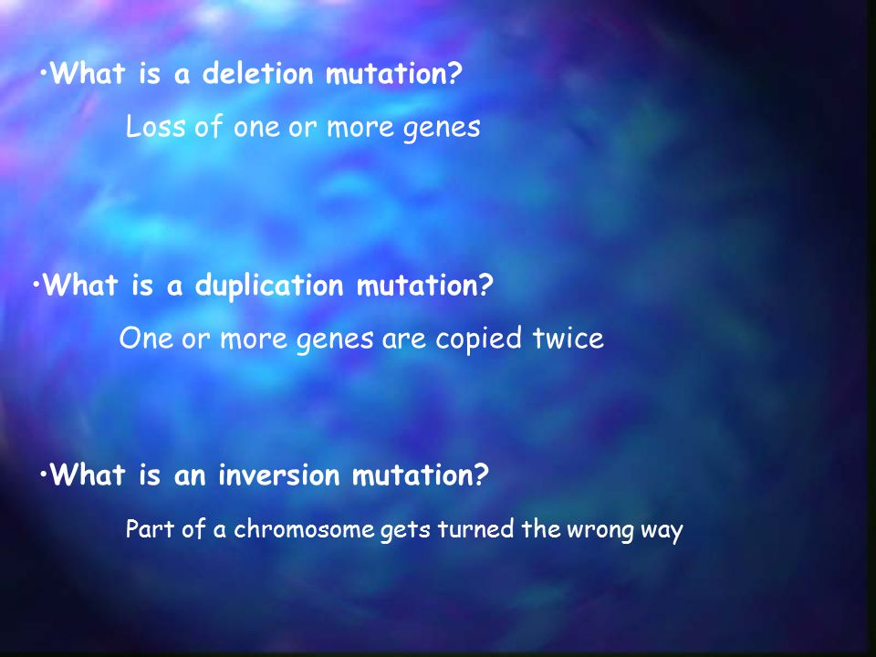 What is a deletion mutation