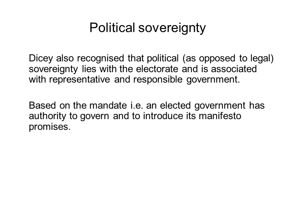 Political sovereignty