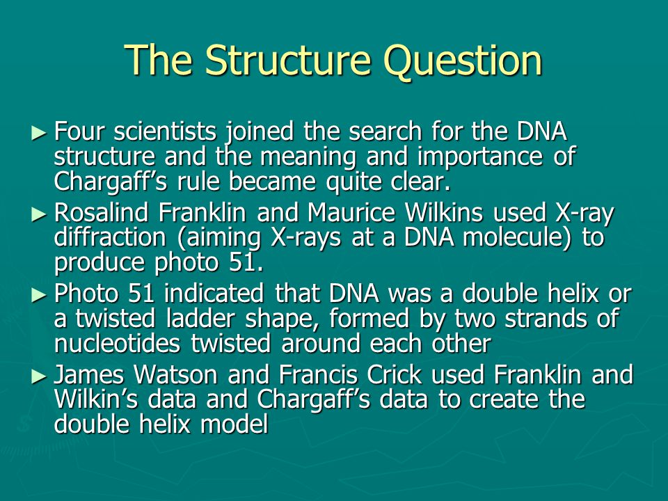 The Structure Question