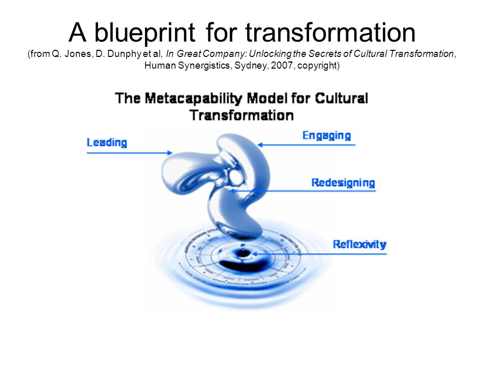 A blueprint for transformation (from Q. Jones, D