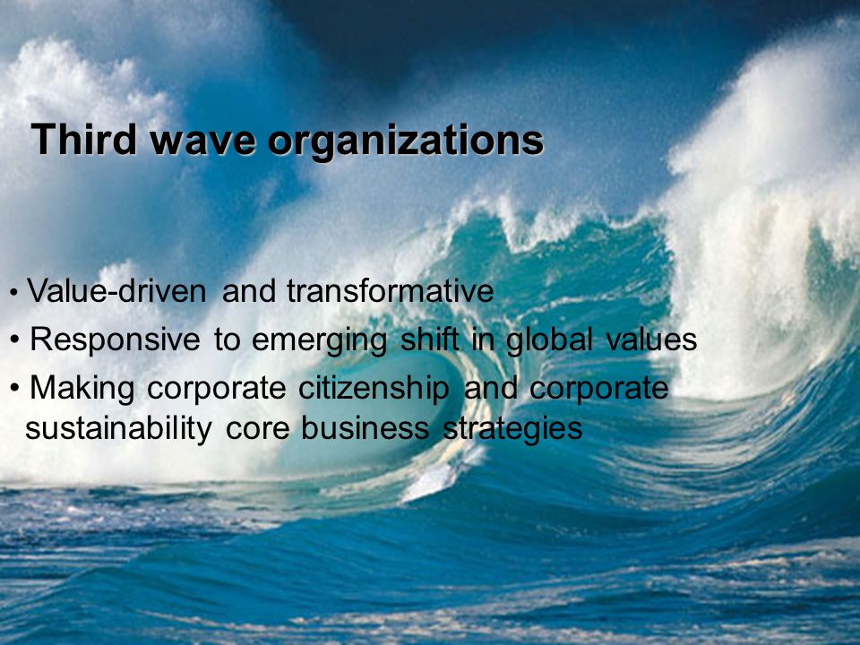 Third wave organizations