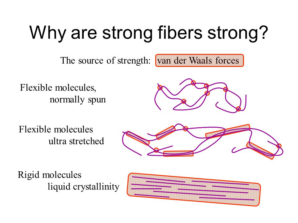 Why are strong fibers strong