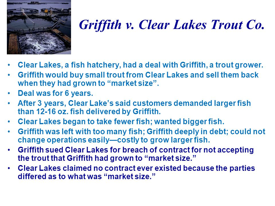 Griffith v. Clear Lakes Trout Co.