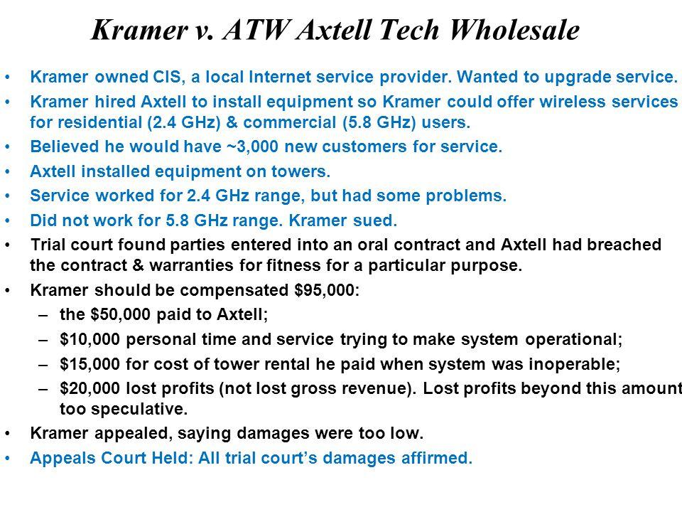 Kramer v. ATW Axtell Tech Wholesale