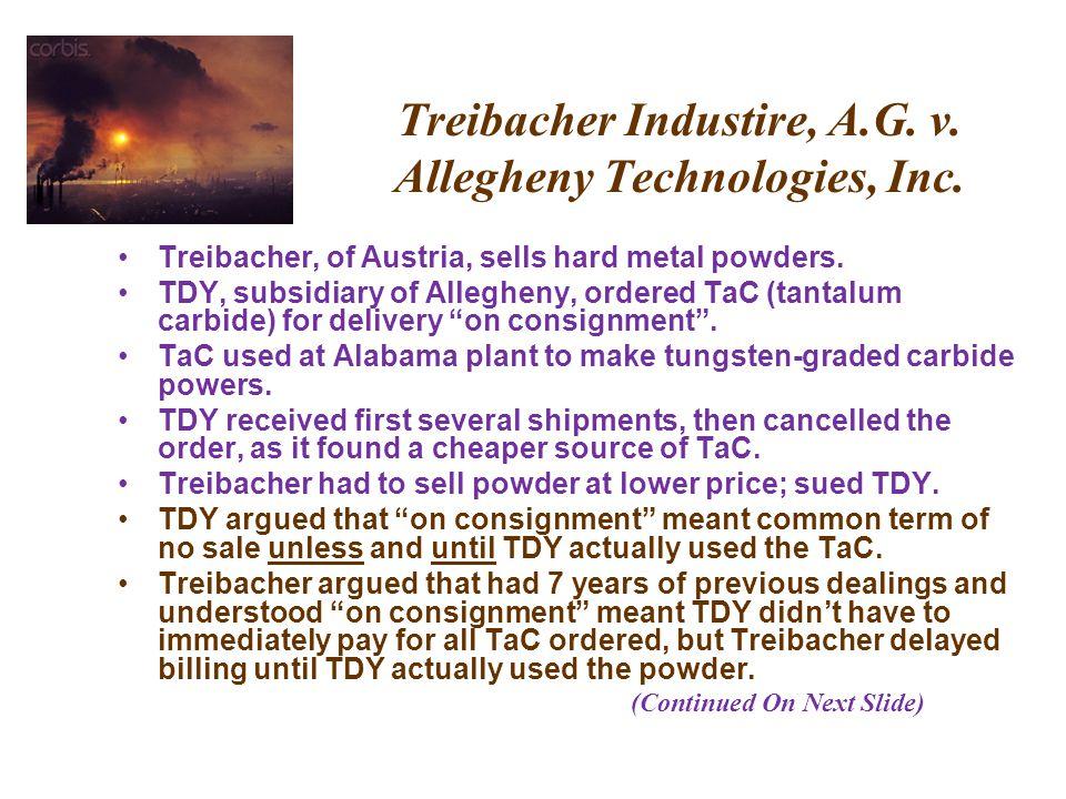 Treibacher Industire, A.G. v. Allegheny Technologies, Inc.