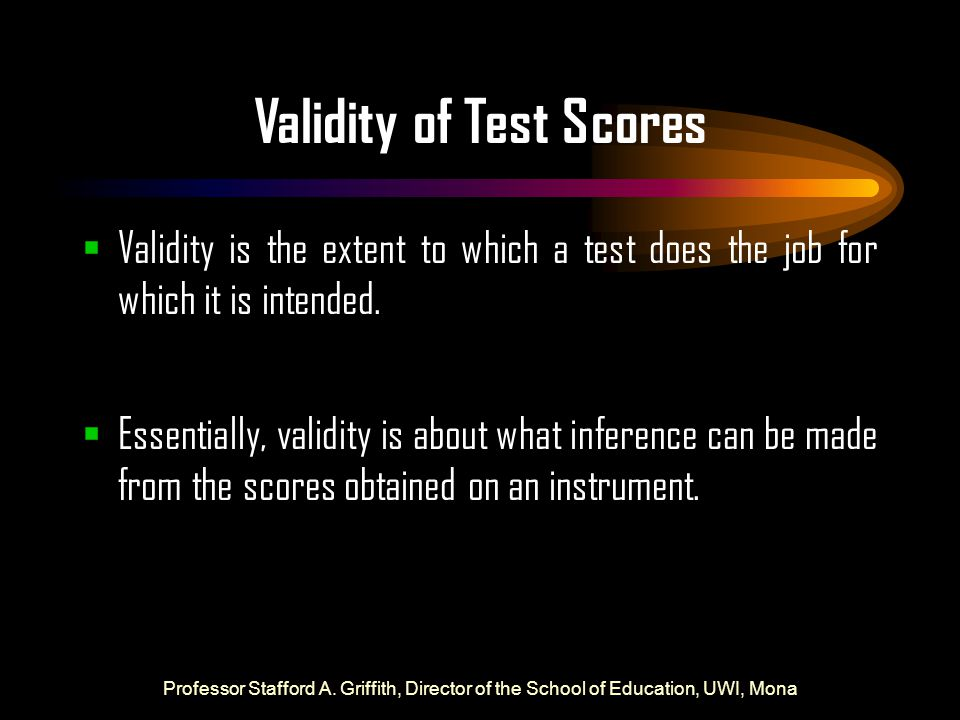 Validity of Test Scores